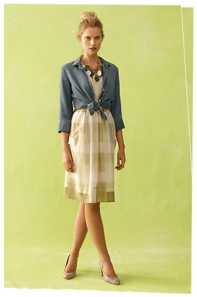 Anthropologie chambray and dress