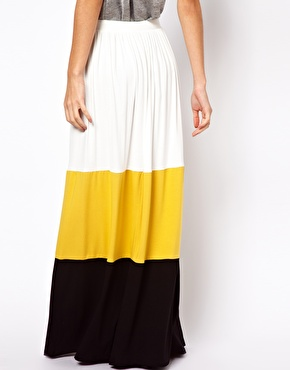 Asos colorblock maxi