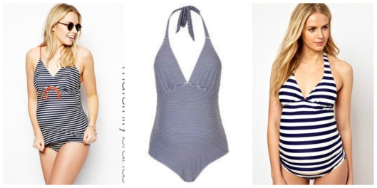 Striped Maternity Swimsuit