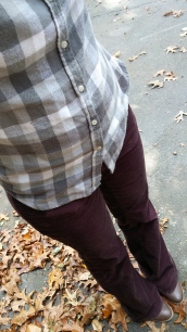 Merlot flares, gray buffalo check